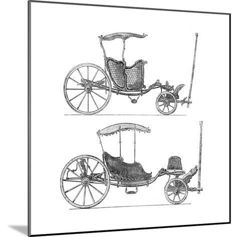 Carriages- Lucotte-Mounted Giclee Print