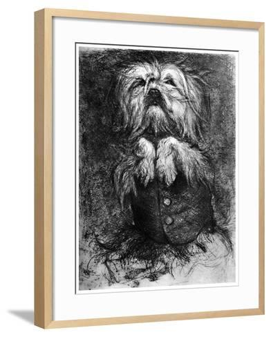 L'Intrigant, C1859-1889-Ludovic Lepic-Framed Art Print