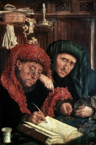The Tax Collectors, Between 1490 and 1567-Marinus Van Reymerswaele-Stretched Canvas Print