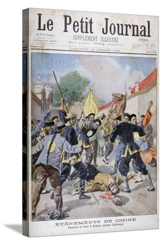 The Murder of Baron Ketteler, German Minister, China, 1900-Oswaldo Tofani-Stretched Canvas Print