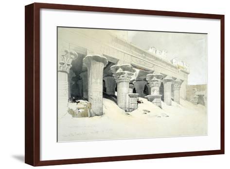 Portico of the Sandstone Temple of Edfu Dedicated to the Falcon-Headed God Horus, Egypt, 1838-Louis Haghe-Framed Art Print