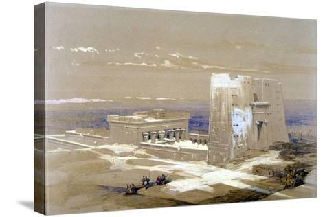 Sandstone Temple of Edfu, Dedicated to the Falcon-Headed God Horus, Egypt, 1838-Louis Haghe-Stretched Canvas Print