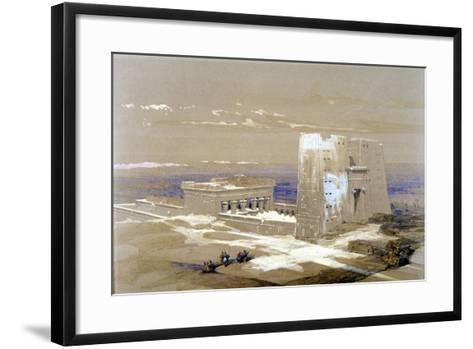 Sandstone Temple of Edfu, Dedicated to the Falcon-Headed God Horus, Egypt, 1838-Louis Haghe-Framed Art Print