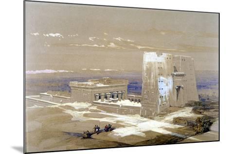 Sandstone Temple of Edfu, Dedicated to the Falcon-Headed God Horus, Egypt, 1838-Louis Haghe-Mounted Giclee Print