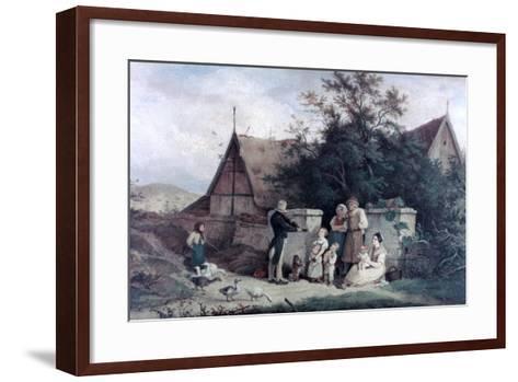 The Fiddler of the Village, 1845-Ludwig Richter-Framed Art Print