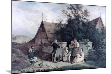 The Fiddler of the Village, 1845-Ludwig Richter-Mounted Giclee Print