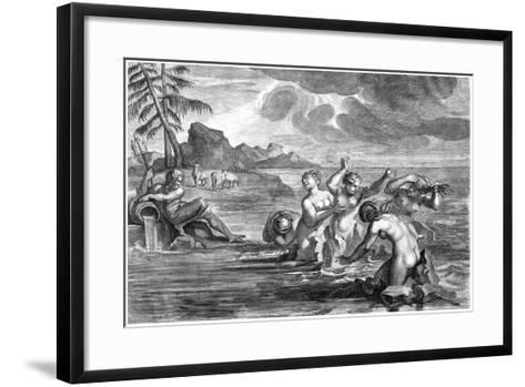 The Cerastae Changed into Bulls, and the Propoetides into Rocks-Martin Bouche-Framed Art Print