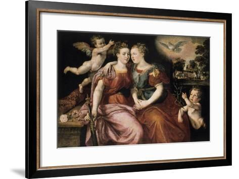 Peace and Justice, 16th Century-Martin de Vos-Framed Art Print