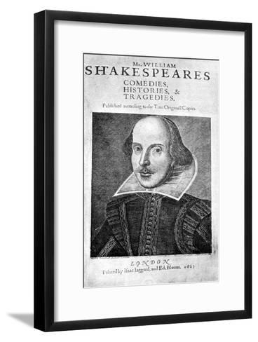 William Shakespeare, English Playwright, 1623-Martin Droeshout-Framed Art Print