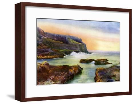 The Cliff, Castlerock, Londonderry, Northern Ireland, 1924-1926-MC Green-Framed Art Print