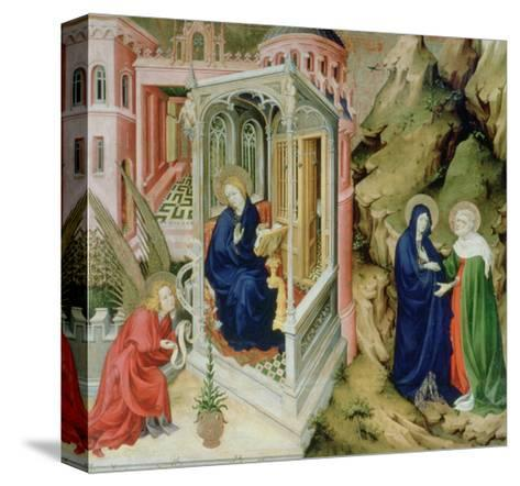 Annunciation and Visitation, 1394-1399-Melchior Broederlam-Stretched Canvas Print