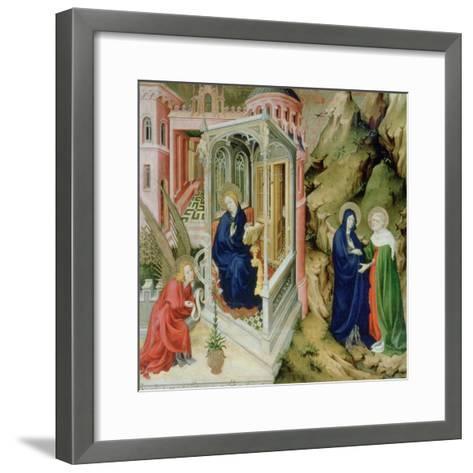 Annunciation and Visitation, 1394-1399-Melchior Broederlam-Framed Art Print