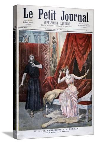 Sibyl Sanderson and Delmas in Jules Massenet 's Opera Thais, Paris, 1894-Oswaldo Tofani-Stretched Canvas Print