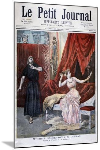 Sibyl Sanderson and Delmas in Jules Massenet 's Opera Thais, Paris, 1894-Oswaldo Tofani-Mounted Giclee Print