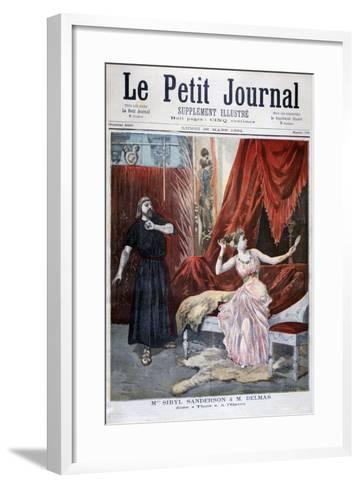 Sibyl Sanderson and Delmas in Jules Massenet 's Opera Thais, Paris, 1894-Oswaldo Tofani-Framed Art Print