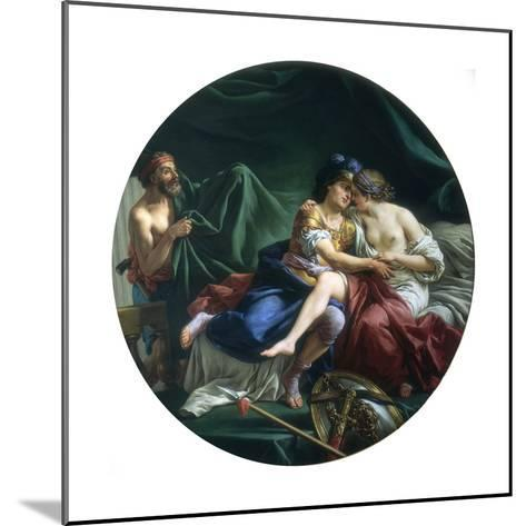 Mars and Venus Discovered by Vulcan, 1768-Louis Jean Francois Lagrenee-Mounted Giclee Print