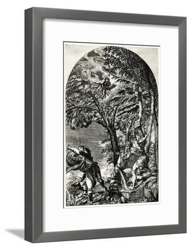 Martydom of St Peter Martyr, 16th Century-Martino Rota-Framed Art Print