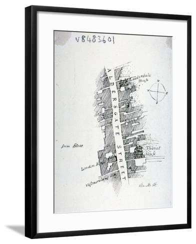 Aldersgate Street, London, C1800-Mary Anne Hedger-Framed Art Print