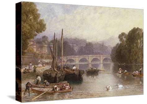 Richmond Bridge, 19th Century-Myles Birket Foster-Stretched Canvas Print
