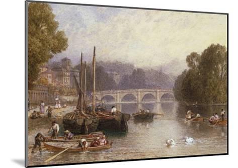 Richmond Bridge, 19th Century-Myles Birket Foster-Mounted Giclee Print