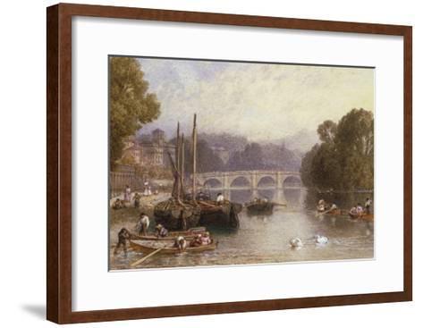 Richmond Bridge, 19th Century-Myles Birket Foster-Framed Art Print