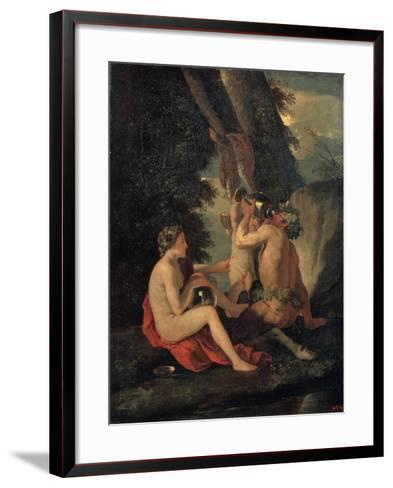 Satyr and Nymph, C.1630-Nicolas Poussin-Framed Art Print