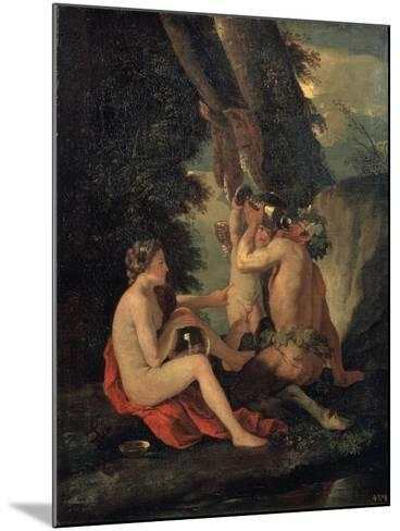 Satyr and Nymph, C.1630-Nicolas Poussin-Mounted Giclee Print
