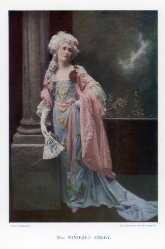 Winifred Emery, English Actress, 1901- Mendelssohn-Stretched Canvas Print
