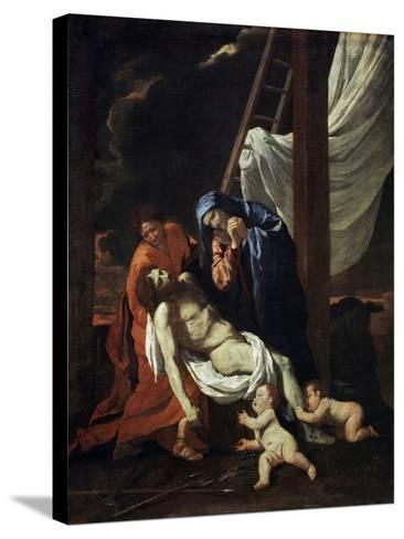 The Descent from the Cross, 1620s-Nicolas Poussin-Stretched Canvas Print