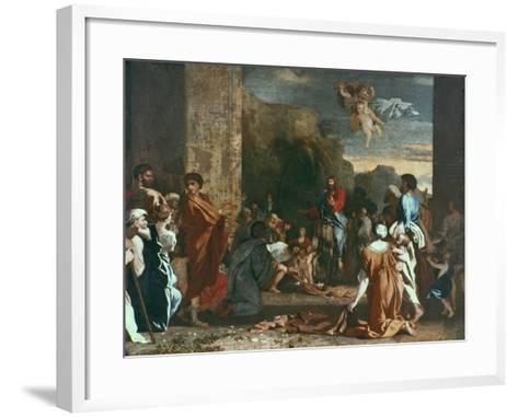 Jesus Enters Jerlusalem, C1630-Nicolas Poussin-Framed Art Print