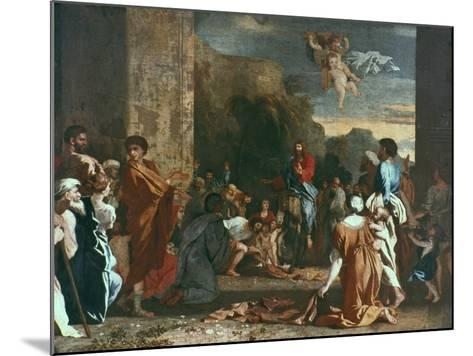 Jesus Enters Jerlusalem, C1630-Nicolas Poussin-Mounted Giclee Print