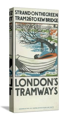 Strand on the Green, Tram 26 to Kew Bridge, London County Council (LC) Tramways Poster, 1924-M Haythorne-Stretched Canvas Print