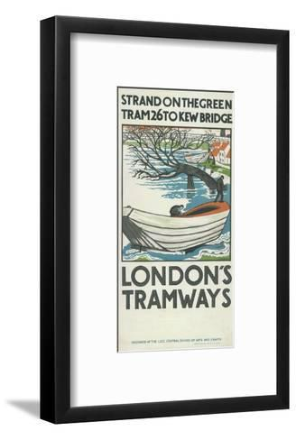 Strand on the Green, Tram 26 to Kew Bridge, London County Council (LC) Tramways Poster, 1924-M Haythorne-Framed Art Print