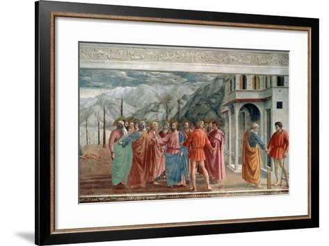 The Tribute Money, 1425-Masaccio Tommaso-Framed Art Print