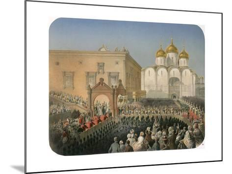 Procession of Of Tsarina Alexandra Feodorovna to the Cathedral of the Dormition, Moscow, 1856-Mihály Zichy-Mounted Giclee Print