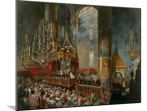 The Crowning of Tsarina Maria Alexandrovna of Russia, Moscow, 1856-Mihály Zichy-Mounted Giclee Print