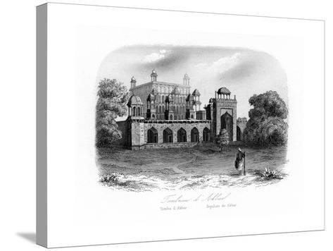 Tomb of Akbar the Great, Sikandra, India, C1840-N Remond-Stretched Canvas Print