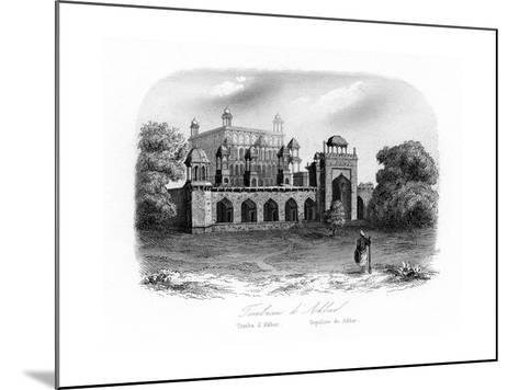 Tomb of Akbar the Great, Sikandra, India, C1840-N Remond-Mounted Giclee Print