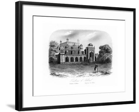 Tomb of Akbar the Great, Sikandra, India, C1840-N Remond-Framed Art Print