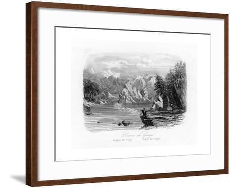 Source of the Ganges, India, C1840-N Remond-Framed Art Print