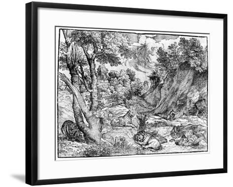 Large Landscape with St Jerome, 1937-Nicolo Boldrini-Framed Art Print