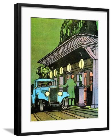At a Filling Station, C1930-Leslie Carr-Framed Art Print