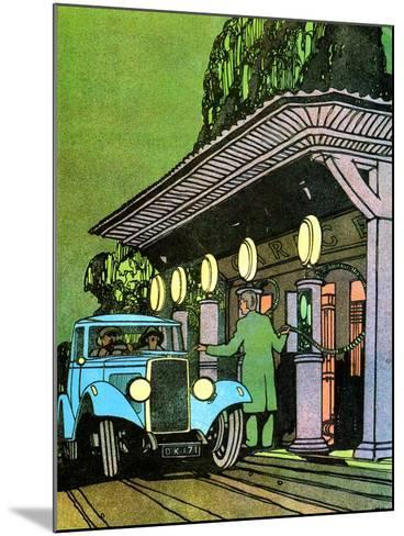 At a Filling Station, C1930-Leslie Carr-Mounted Giclee Print