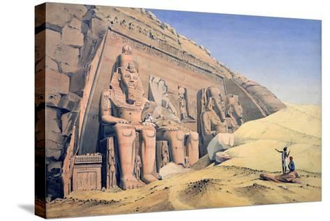 Great Temple of Ramesses II, Abu Simbel, 1846-Louis M. A. Linant de Bellefonds-Stretched Canvas Print