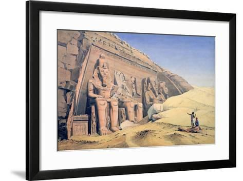 Great Temple of Ramesses II, Abu Simbel, 1846-Louis M. A. Linant de Bellefonds-Framed Art Print