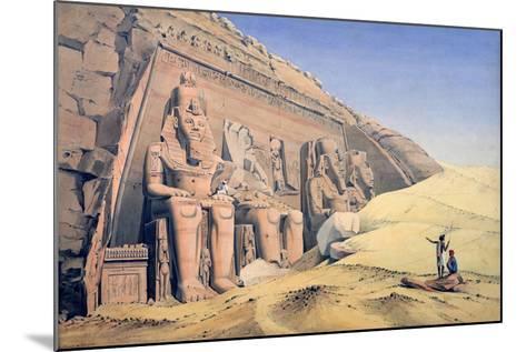 Great Temple of Ramesses II, Abu Simbel, 1846-Louis M. A. Linant de Bellefonds-Mounted Giclee Print