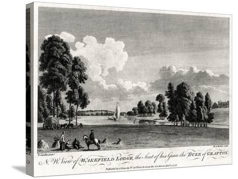 North West View of Wakefield Lodge, the Seat of His Grace the Duke of Grafton, 1776-Michael Angelo Rooker-Stretched Canvas Print