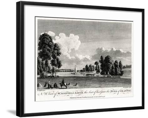 North West View of Wakefield Lodge, the Seat of His Grace the Duke of Grafton, 1776-Michael Angelo Rooker-Framed Art Print