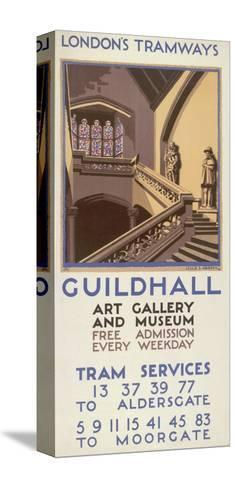 Guildhall Art Gallery and Museum, London County Council (LC) Tramways Poster, 1927-Leslie S Abbott-Stretched Canvas Print