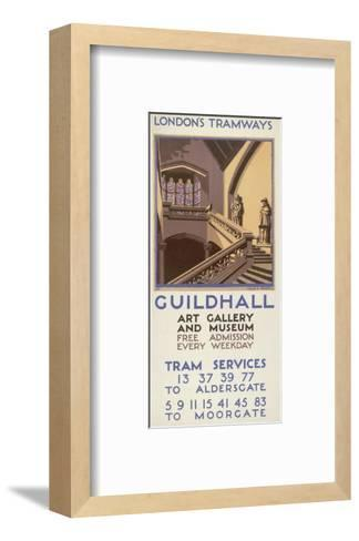 Guildhall Art Gallery and Museum, London County Council (LC) Tramways Poster, 1927-Leslie S Abbott-Framed Art Print